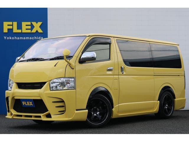 トヨタ ロングスーパーGL original export yellow full custom 加修 イエローカラー 2WD ガソリン オーバーフェンダー アルミ ガッツミラー同色塗装 フルエアロ バイザー ナビ ETC装備