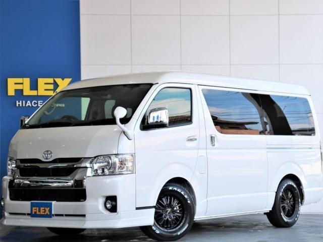 トヨタ  GL ロング FLEXスタンダードパッケージ FLEXシートカバー内装 ナビ 後席フリップダウンモニター ETC 自動ドア パノラミックビューモニター デジタルインナーミラー