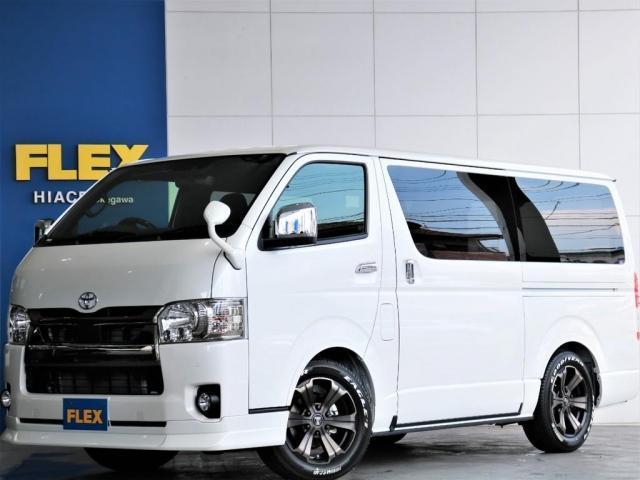 トヨタ  スーパーGL ダークプライムII ロングボディ FLEXスタンダードパッケージ ディーゼルターボ4WD寒冷地仕様 パノラミックビューモニター デジタルインナーミラー セーフティーセンス