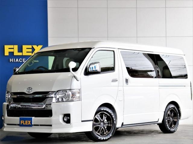 トヨタ GL FLEXスタンダードパッケージ 4WD寒冷地仕様 リノカシートカバー ナビ 後席フリップダウンモニター 自動ドア クリアランスソナー セーフティーセンス デジタルインナーミラー
