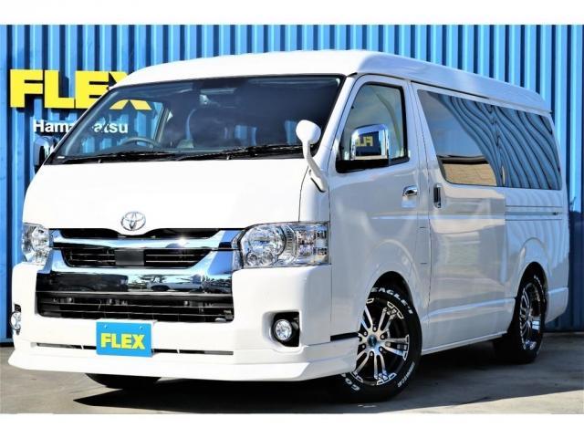トヨタ GL ロング FLEXオリジナル内装架装Ver1 ローダウン FLEXフロントスポイラー FLEXオーバーフェンダー FLEXホイールDELF02 グッドイヤーナスカータイヤ ナビ ETC フリップモニター PVM