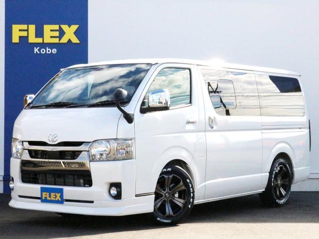 トヨタ  FLEX デルフィーノラインフロントリップスポイラー アーバングランデ 17インチAW グッドイヤーナスカーホワイトレタータイヤ 1.5インチローダウン デジタルインナーミラー LEDヘッドランプ