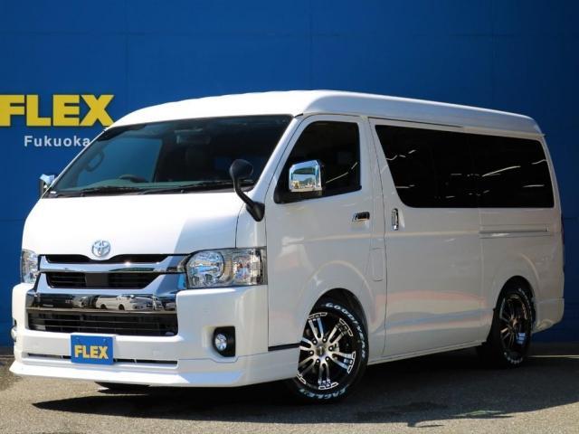トヨタ スーパーGL ダークプライムIIワイド ロングボディ カスタムPKG Delfinoraineフロントリップスポイラー Delfinoraineオーバーフェンダー 玄武1.5インチローダウンブロック FLEX ベッドキット ETC