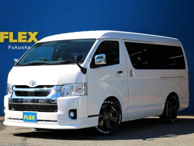 トヨタ GL ロング ARRANGE AS Delfinoraineフロントリップスポイラー Delfinoraineオーバーフェンダー FLEXアルティメットLEDテールランプ 玄武1.5インチローダウンダウンブロック