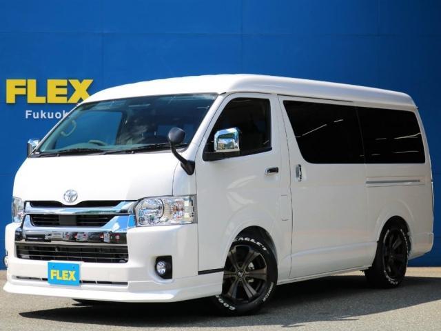トヨタ GL ロング ハイエースワゴンGL 2.7G 2WD TSSP搭載 FLEX Delfinoraineフロントリップ FLEX Delfinoraineオーバーフェンダー FLEX 煌ブラックLEDテールランプ