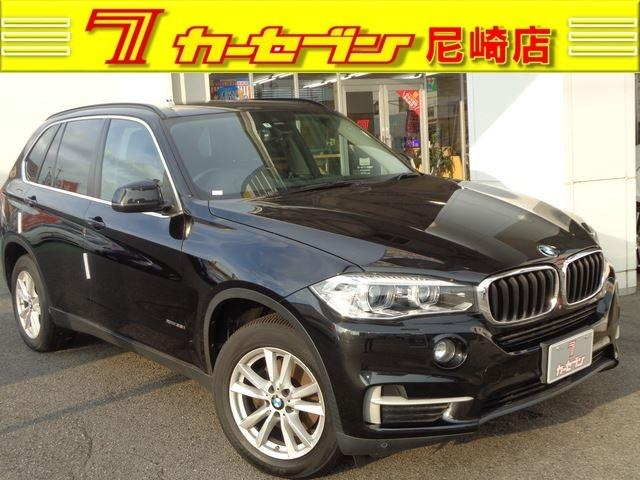 BMW X5 xDrive 35i 黒革 インテリセーフ ワンオーナー 禁煙車 前後カメラ パワーバックドア シートヒーター HID ナビ TV ETC