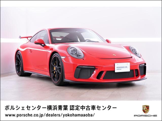ポルシェ 911 911GT3 PCCB スポーツクロノパッケージ バックカメラ サテンブラックホイール プライバシーガラス ステアリングホイールセンターマーキングレッド リム塗装ガーズレッド フロアマット