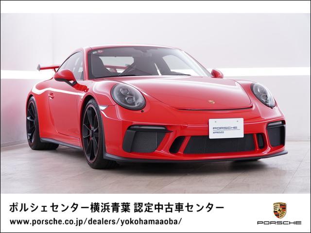 ポルシェ 911 911GT3 LEDブラックヘッドライト スポーツクロノパッケージ フロントリフト クラブスポーツパッケージ シートヒーター バケットシート カラーシートベルトガーズレッド ブラックペイントホイールレッドリム