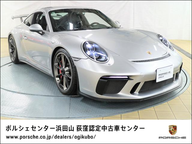 ポルシェ 911GT3 クラブスポーツパッケージ スポーツクロノパッケージ ブラッシュアルミインテリアパッケージ リバーシングカメラ フロントリフトシステム(ロベルタ製) サテンプラチナ塗装ホイール