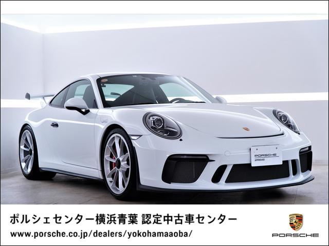 ポルシェ 911GT3 スポーツクロノパッケージ フロントリフト ホワイトカラークロノメーターパネル 助手席ラゲッジネット、ドアリリースレバーブラック塗装(ハイグロス)