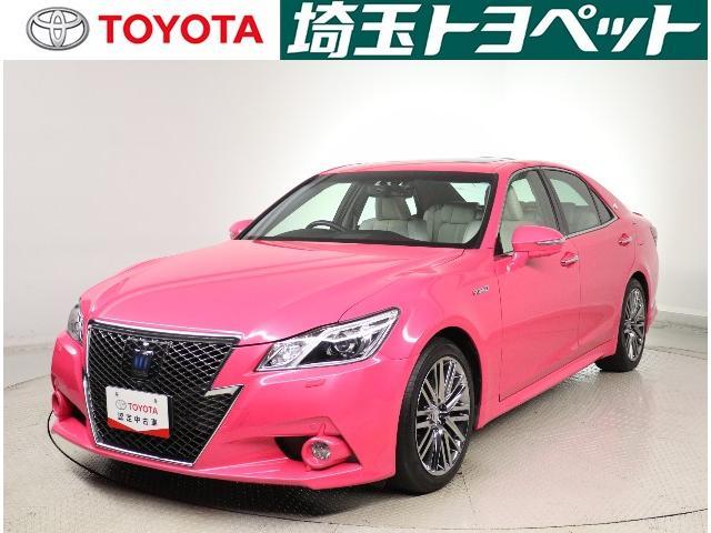 トヨタ アスリートG ピンク サンルーフ 革シート バックカメラ