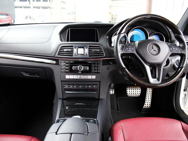 E250 クーペリミテッド 1オーナー AMGスポーツPkg レーダーセーフティPkg 専用18AW レッドレザー 電動シート&ヒーター 360度カメラ アイドルストップ キーレスゴー 純正ナビゲーションシステム ETC2.0(10枚目)