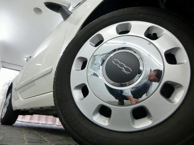フィアット フィアット 500 1.2 ポップ 純正CDデッキ 本革巻きステアリング