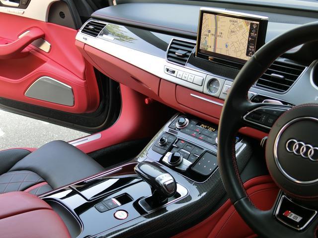 アウディ アウディ S8 エクスクルーシブ 赤 黒内装 スポーツエグゾーストS