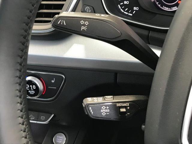 アダプティブクルーズコントロール。ステアリングコラムに装備されたレバーで操作が可能。アクセルペダルを踏まずに一定の走行速度・車間距離を維持。