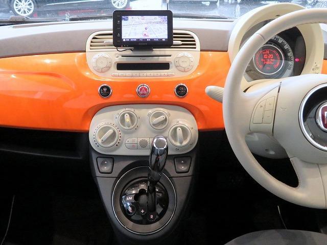 フィアット フィアット 500 アランチャ 限定300台 ポータブルナビ 純正CD ETC