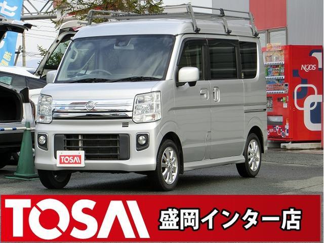 日産 NV100クリッパーリオ E 4WD ハイルーフ ルーフキャリア 純SDナビ