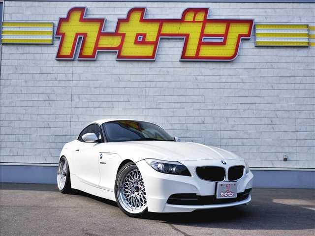 BMW Z4  オープンカー☆黒革シート☆KW車高調(純正有)☆SSR19インチAW(純正有)☆メーカーHDDナビ☆DVD・CD再生☆CD録音☆フルセグTV☆ミラー型ETC☆キーレスキー2コ☆EGプッシュスタート