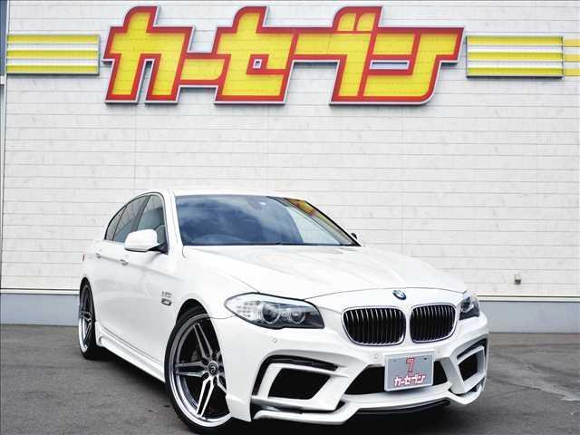 BMW 528i エナジーモータースポーツコンプリートカー(AW・エアロ・マフラー)/クロレザーシート/純正HDDナビ/DVD・CD再生/CD録音/フルセグTV/バックモニター/HID/スマートキー2コ
