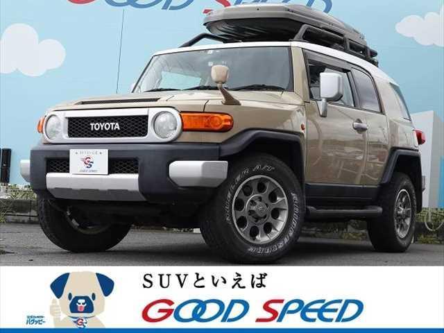 トヨタ FJクルーザー オフロードパッケージ 買取仕入車両 サイバーナビ リアデフロック 4WD クリアランススナー 純正アルミ ETC
