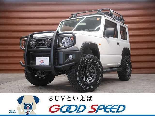 スズキ XG 4WD 7インチディスプレイオーディオ 2.5インチリフトアップ グリルガード FUEL16インチAW ハードタイヤカバー サイドステップ オーバーフェンダー 5速MT車 ルーフラック