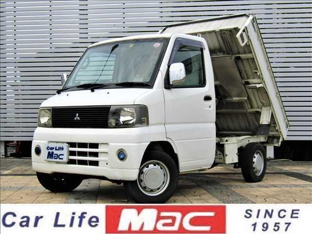 三菱 ダンプ 5速MT エアコン 作業灯 社外ハンドル 荷台マット 社外タコメーター