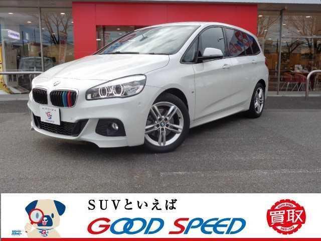 BMW 2シリーズ 218dグランツアラー Mスポーツ 純正ナビ バックカメラ インテリジェントセーフティ スマートキー クリアランスソナー クルーズコントロール プッシュエンジンスタート LEDヘッドライト 純正アルミホイール 革巻きステアリング