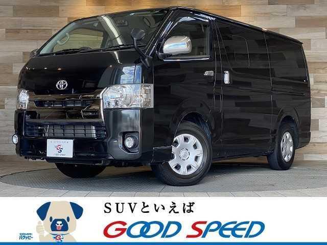 トヨタ ハイエースバン スーパーGL ダークプライム ワンオーナー 純正ナビTV バックカメラ ETC ハーフレザー スマートキー ディーゼル AC100V LEDヘッド