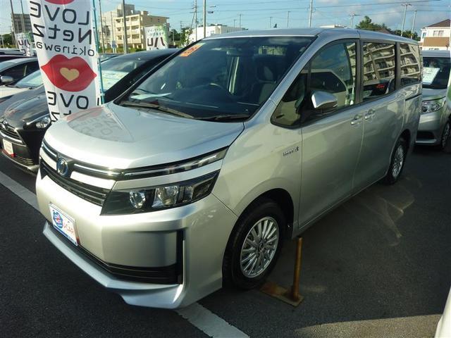 沖縄県の中古車ならヴォクシー ハイブリッドX メモリーナビ バックカメラ ETC 電動スライドドア LEDヘッドランプ 乗車定員7人 3列シート 記録簿