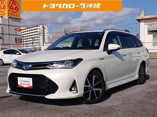 沖縄の中古車 トヨタ カローラフィールダー 車両価格 148万円 リ済別 2018(平成30)年 4.8万km パールマイカ