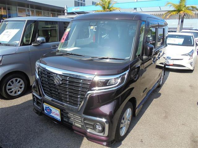 沖縄の中古車 スズキ スペーシアカスタム 車両価格 154万円 リ済別 2020(令和2)年 0.2万km ムラサキ