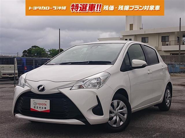 沖縄の中古車 トヨタ ヴィッツ 車両価格 89万円 リ済別 2018(平成30)年 2.7万km シロ