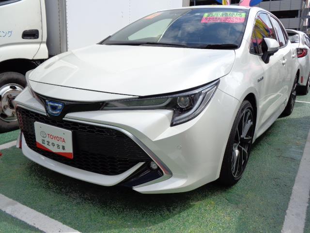 沖縄県の中古車ならカローラスポーツ ハイブリッドG Z メモリーナビ バックカメラ LEDヘッドランプ 記録簿