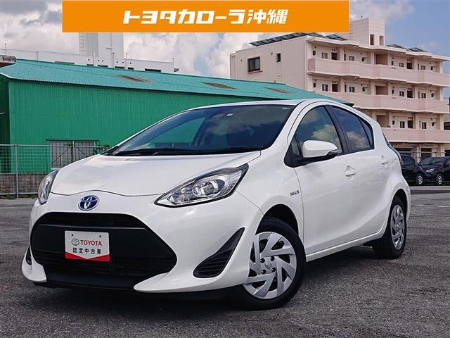 沖縄の中古車 トヨタ アクア 車両価格 135万円 リ済別 2018(平成30)年 4.3万km シロ