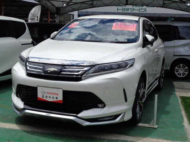沖縄の中古車 トヨタ ハリアー 車両価格 288万円 リ済別 2017(平成29)年 3.3万km パールマイカ