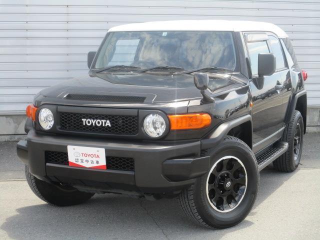 トヨタ FJクルーザー ブラックカラーパッケージ 4WD フルセグ メモリーナビ DVD再生 ミュージックプレイヤー接続可 バックカメラ ETC
