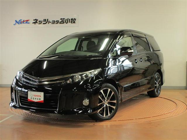 トヨタ エスティマ アエラス サンルーフ 4WD フルセグ HDDナビ DVD再生 両側電動スライド HIDヘッドライト 乗車定員7人 3列シート ワンオーナー