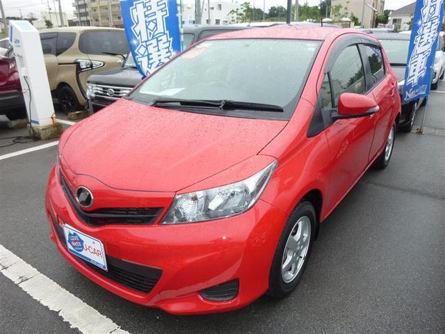 沖縄の中古車 トヨタ ヴィッツ 車両価格 55万円 リ済別 2013(平成25)年 5.8万km スーパーレッドV