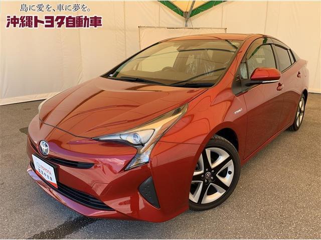 沖縄の中古車 トヨタ プリウス 車両価格 209万円 リ済別 2018(平成30)年 4.8万km エモーショナルレッド