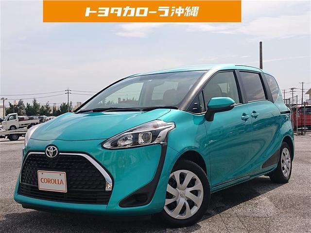 沖縄の中古車 トヨタ シエンタ 車両価格 158万円 リ済別 2019(令和1)年 1.8万km ミドリ