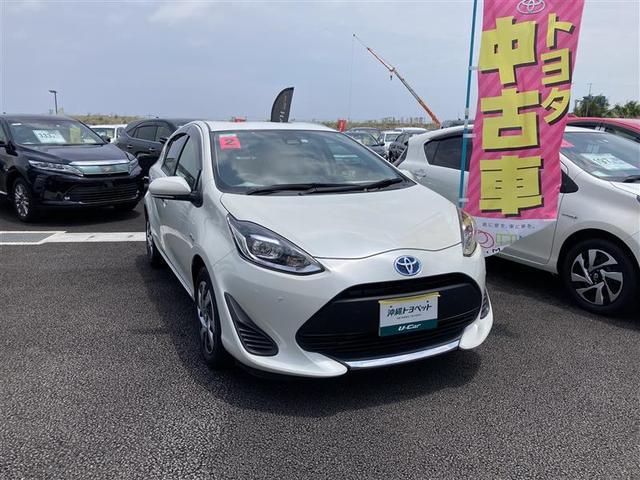 沖縄の中古車 トヨタ アクア 車両価格 179万円 リ済別 2020(令和2)年 0.6万km パールマイカ