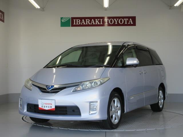 トヨタ エスティマハイブリッド G 4WD HDDナビ バックカメラ HIDヘッドライト 乗車定員7人