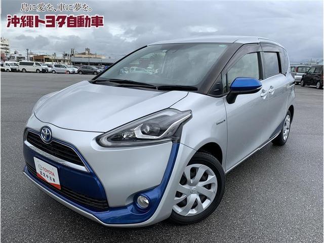 沖縄の中古車 トヨタ シエンタ 車両価格 181.5万円 リ済別 2016(平成28)年 2.3万km シルバーM