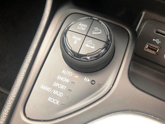 4WDは路面状況に合わせてモードを変えることが可能です!