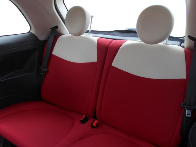 フィアット フィアット 500 1.2 ポップ アイドリングストップ ETC 赤白シート