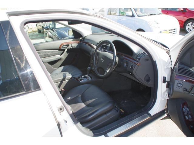 S320 ホワイト サンルーフ 革シート パワーシート(4枚目)