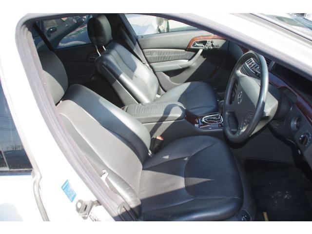 S320 ホワイト サンルーフ 革シート パワーシート(18枚目)