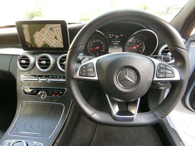 C200アバンギャルド AMGライン ダイヤモンドシルバーメタリック レーダーセーフティPKG AMG18インチAW 取説・新車時保証書有 記録簿3枚(26枚目)