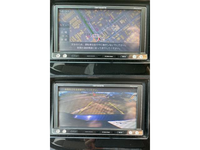 carrozzeria製メモリーナビでフルセグ対応TVもバッチリ移ります♪バックカメラも付いて駐車のサポート安心です♪