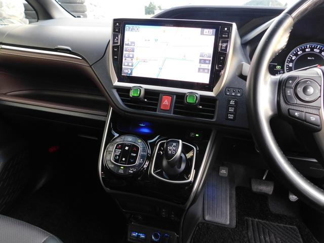 ハイブリッドGi 10型ナビ・12.8型後席モニター フルTV バックカメラ 両側電動スライドドア 車高調 クルコン レザーシート シートヒーター 純正15AW スマートキー(6枚目)